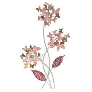 Купить Панно РЕМЕКО 714611 Бабочки 36*5*66 см цвет розовый/золото