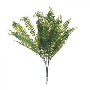 Купить Цветок искусственный РЕМЕКО 608318 Папоротник 15*15*42 см цвет зелёный