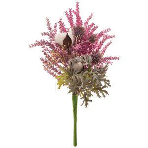Купить Цветочная композиция Арти М 287-118 40 см цвет зелёный/розовый