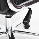 Кресло компьютерное TetChair Trust цвет кож/зам, черный/черный стеганный/черный, 36-6/36-6