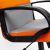 Кресло компьютерное TetChair СН757 ткань, серый/оранжевый, С27/С23