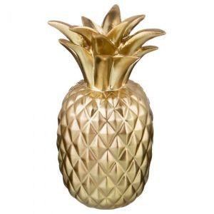 Купить Копилка Арти М 574-385 Ананас 10*10*19 см цвет золото