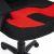 Кресло компьютерное TetChair Neo (3) ткань, черный/красный, 2603/493