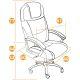 Кресло компьютерное TetChair Bergamo (хром)