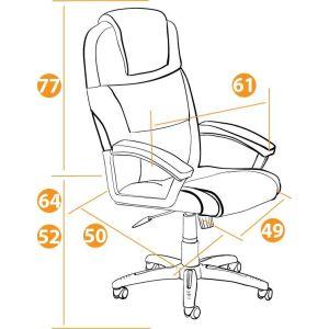Купить Кресло компьютерное TetChair Bergamo цвет кож/зам, черный, 36-6