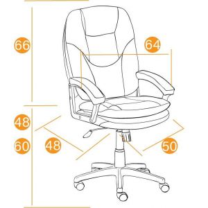 Купить Кресло компьютерное TetChair Comfort LT цвет кож/зам, черный, 36-6