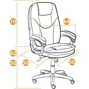 Купить Кресло компьютерное TetChair Comfort цвет кож/зам, коричневый, 2 tone