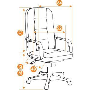 Купить Кресло компьютерное TetChair Devon цвет кож/зам, коричневый, 2 tone