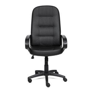 Купить Кресло компьютерное TetChair Devon цвет кож/зам, черный/черный перф., 36-6/36-6/06