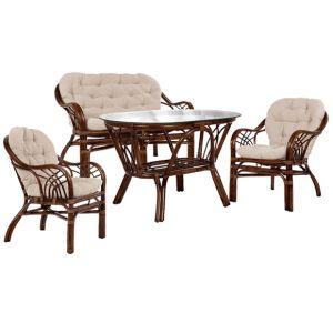 Купить Комплект мебели из натурального ротанга Мебель Импэкс Roma цвет орех