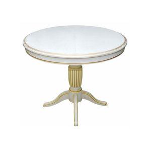 Купить Стол Эвита Турин-02 цвет белый дуб с золотой патиной