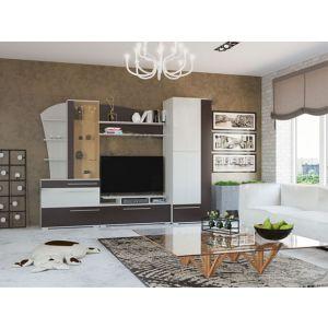 Купить Стенка Гранд Кволити 6-565 Глория цвет белый рамух/венге
