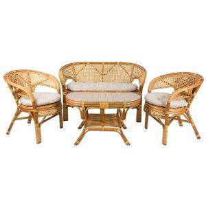 Купить Комплект мебели из натурального ротанга Мебель Импэкс Пеланги цвет мёд