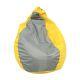 Пуф Комфорт-S Груша цвет желтый/серый