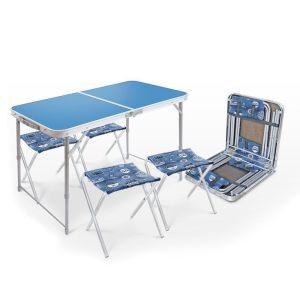 Купить Комплект мебели Ника ССТ-К2 (стол + 4 стула) цвет голубой