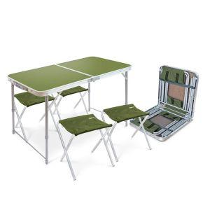 Купить Комплект мебели Ника ССТ-К2 (стол + 4 стула) цвет хаки
