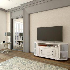 Купить Тумба под телевизор Аквилон ТТВ Азалия цвет бодега белый