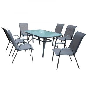 Купить Комплект мебели ЭкоДизайн Kingston (стол + 6 кресел)