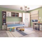 Кровать Аквилон КТ900.4 90*200 Кот цвет туя светлая/белый