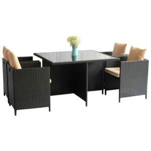 Купить Комплект мебели ЭкоДизайн Cube (стол + 4 кресла)