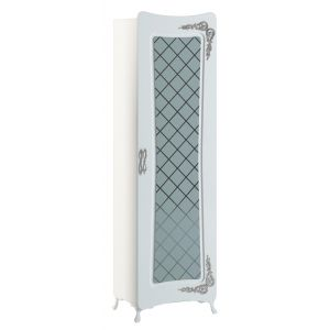 Купить Шкаф-витрина АСМ-Модуль АПВ Аделина цвет белый глянец/серебро
