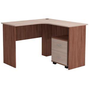Купить Стол с тумбой Комфорт-S Матеуш-3 цвет шимо светлый/шимо темный