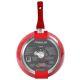 Сковорода MoulinVilla RSB-28-DI 28 см цвет красный/серый
