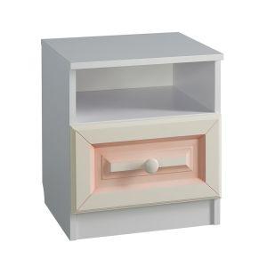 Купить Тумба прикроватная Мебельсон ТП1 Алиса цвет белый/крем