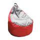 Пуф Комфорт-S Груша-3 мини цвет красный/серый