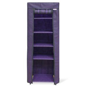 Купить Стеллаж с чехлом КОРАЛЛ SHT-SS15P цвет черный/фиолетовый