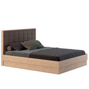Купить Кровать АСМ-Модуль К1 Квадро 160*200 с подъемным механизмом цвет дуб сонома/микророгожка
