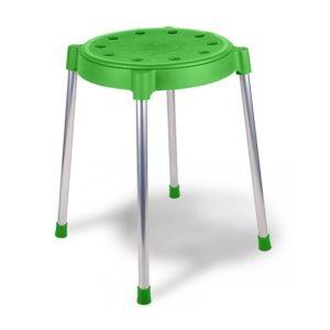 Купить Табурет КОРАЛЛ SHT-S36 цвет зеленый/хром Т-36