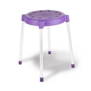 Купить Табурет КОРАЛЛ SHT-S36 цвет фиолетовый/серый Т-36