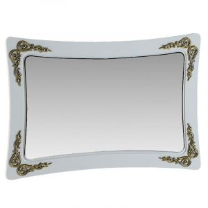 Купить Зеркало АСМ-Модуль З1 Аделина цвет белый глянец/золото