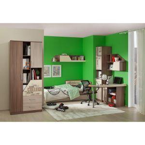 Купить Стол компьютерный Мебельсон СК угловой Колледж цвет шимо темный/шимо светлый/крем