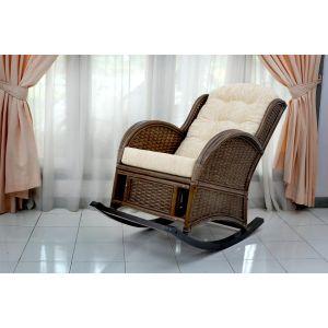 Купить Кресло-качалка ЭкоДизайн Wing-R цвет браун