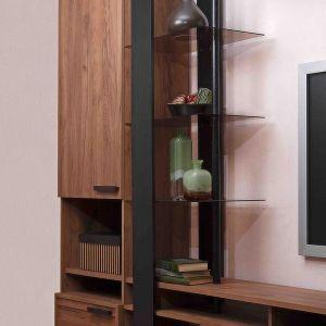 Купить Стеллаж ГМФ С25 Nature цвет дуб табачный craft/черный