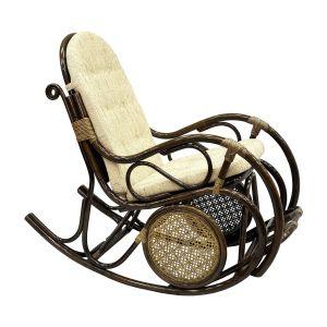 Купить Кресло-качалка ЭкоДизайн 05/10 с подножкой цвет браун