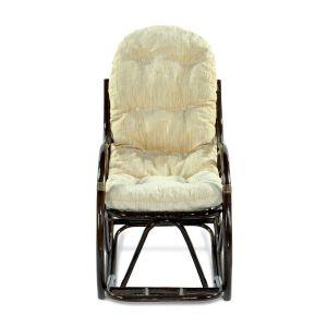 Купить Кресло-качалка ЭкоДизайн 05/17 с подножкой цвет браун