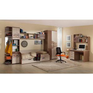 Купить Стол компьютерный Мебельсон СТ1200 Манхеттен цвет шимо темный/шимо светлый/капучино