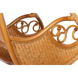 Купить Подвесное кресло ЭкоДизайн Hanging 003 цвет темный мед