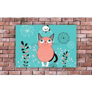 Купить Картина Строй-Комплект Розовый кот 70*50
