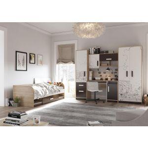 Купить Комод Гранд Кволити 4-44260 Арабика цвет дуб ривьера/белый/коричневый