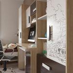 Стол письменный Гранд Кволити 6-0607 Арабика цвет дуб ривьера/белый/коричневый