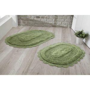 Купить Набор ковриков Карна Текстиль Modalin Lokal 60*100 + 50*70 см 1/2 цвет тёмно-зелёный