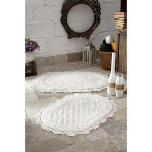 Купить Набор ковриков Карна Текстиль Modalin Merit 50*80 + 45*60 см 1/2 цвет кремовый