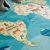 Ковёр Амиковры Matlig 0332 Карта мира 130*180 см