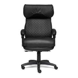 Купить Кресло компьютерное TetChair Chief цвет кож/зам, черный/черный стеганный/черный, 36-6/36-6