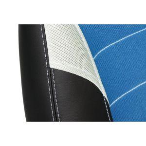 Купить Кресло компьютерное TetChair Inter цвет кож/зам/ткань, черный/синий/серый, 36-6/С24/14