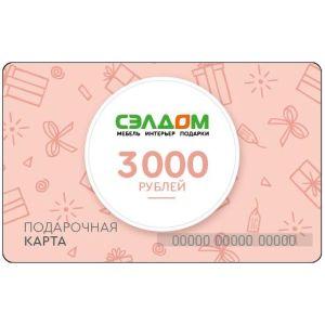 Купить Подарочная карта Сэлдом 3000 рублей